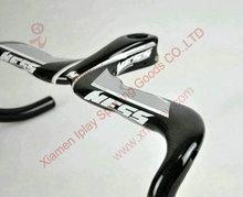 NESS integrated bike handlebars, full carbon handlebars racing bike,road bike handlebar carbon 3 colors for choose