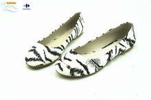 latest design sexy zebra print flat shoes
