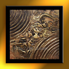 Artwork abstract gold foil oil painting on canvas sculpture handmade home decor