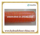 flexible manguera PVC de succion de agua naranja