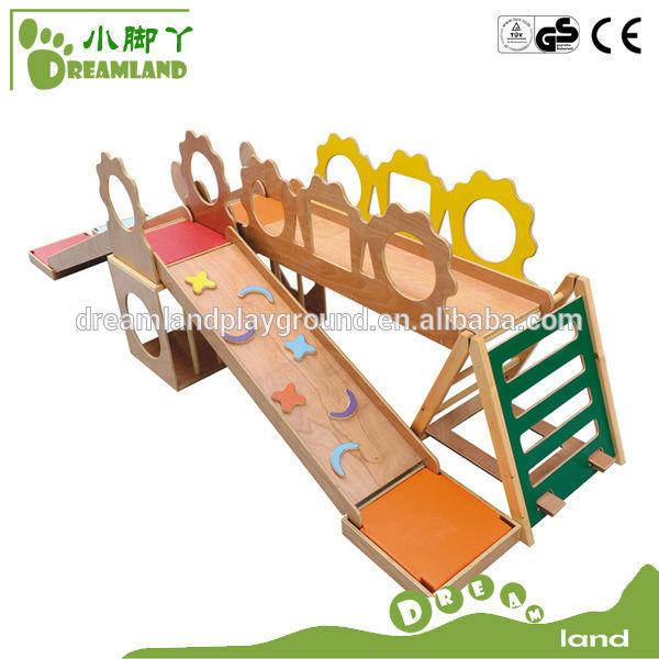 Preschool kids indoor wooden multi gym equipment view for Indoor gym equipment for preschool