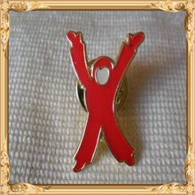 2014 New Custom Metal Hotsale Children without sight & hearing charity child hands pin lapel badge