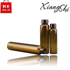 Beauty Amber Crimp Glass Vial With Cap For Perfume Oil
