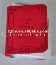 Personnalisé rouge couleur épaisse couverture rigide notebook agenda impression
