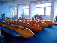 top sale inflatable water banana boat, flyfish banana boat, inflatable fish boat