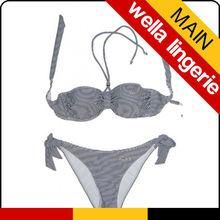 WELLA LINGERIE Colorful Stripes Print bikini Wide application durable sexy girls two pieces swimwear