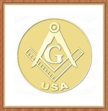 Wholesale Cheap Souvenir Gifts Freemason Masonic USA Lapel Pin Badge