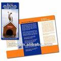 Promoción arte impresión de folletos de papel e instrucción de manuales de impresión