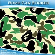 Hd-069 çin araba etiket 1.52x30m 5x98ft hava kabarcığı ücretsiz dayanıklı araba sarma sticker bomba kamuflaj vinil