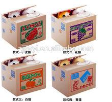 plastic piggy bank electronic piggy bank money boxes cat design