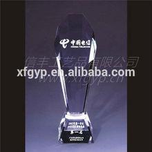 Crystal Pillar Slant Bevel Trophy Cup