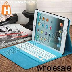 Universal Keyboard Case For iPad, Wireless bluetooth 2.0 ABS keyboard + PU leather case for iPad 2 3 4