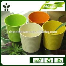 Eco Friendly Bamboo Fiber Plant Pots Home Decorative Candle Cups Flower Pots