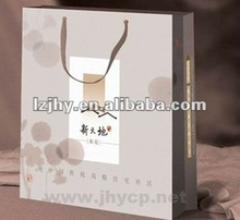 luxury paper shopping bags printing with customized logo/offset printing service