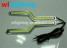 new Super birght Car led cob daytime running lights Z shape cob DRL waterproof daylight