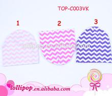 Wholesale various chevron cotton warm soft baby cap
