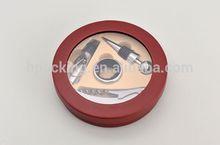 wholesale mini round tool box for wine
