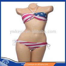 para la venta de moda de mujer sexy bikini bandera americana