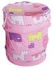 100% cotton folding laundry hamper/polyester laundry bag