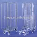 4 lados plegables de acero jaula roll contenedores para la leche