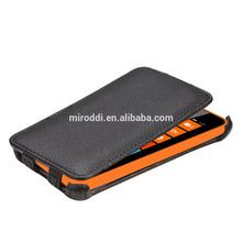Luxury flip case design for nokia lumia 630 case, made of premium leather and pc