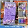 Luxury Crystal Rhinestone Diamond Slim Shining Bling PU Leather Case For iPhone 5 5S