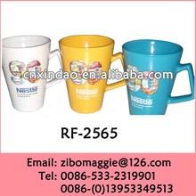 Hot Sale Nescafe Style Ceramic Thermal Mug Large with V Shape Made In China