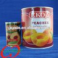 Enlatados, frutaenlatada, conservas de pêssegos em fatias em calda