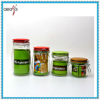 transprent wholesale popular airtight cheap large beautiful round glass jars and lids