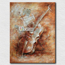 Musical equipment cello still life oil painting for bedroom decoration