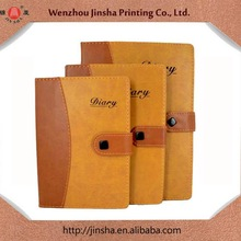 2014 hot sale The best selling A4 A5 A6 leather dairy notebook with button and pen