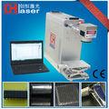 Portable 20w fibra acrílica/resina epóxi laser máquina da marcação