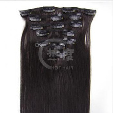 top quality remy human hair clip on extension direct from factory