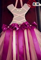 Newest fashion colorful Tutu bow holders Styplish pattern Princess Tutu Dress Personalized Bow holders 1pcs/lot