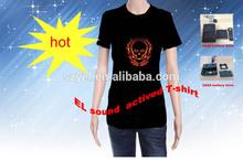 hot sale sound active EL t-shirts customized wholesale online shop