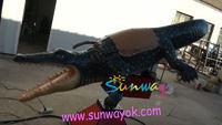 Customized PVC Inflatable sports ride game arena for mechanical cayman crocodile mechanical cayman crocodile
