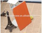 PU Leather three 3 foldable standing flip tab case for ipad mini