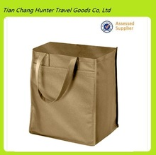Wholesale promotion cheap brown grocery shopping bag, tote bag