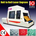 Rouleau à rouleau de tissu de vêtement de marquage laser/prix de la machine de gravure
