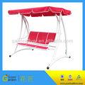 jardín 3 plazas de hierro forjado silla del oscilación de hierro moderno al aire libre silla de la hamaca swing