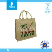 2014 custom printed cheap promotional jute shopper bag