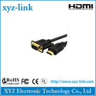 vga to hdmi cable 24k gold plated, round PVC jacket for laptop,HDTV,PS3,set-top box wiht UL,CE,ROHS