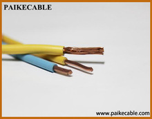 PVC insulated flexible cable with no sheath