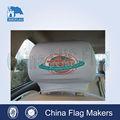 Curto tempo de entrega do carro universal encosto de cabeça cobrir, custom bandeira do assento de carro capa dvd com capa