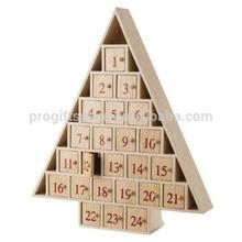 2015 new hot sale China fashion handmade cheap wholesale decoration gift crafts custom Christmas ornament wooden advent calendar
