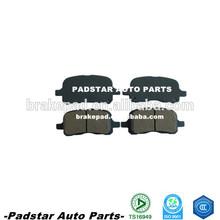 Fabricación de pastillas de freno ssangyong istana piezas de automóviles de fibra de carbono pastillas de freno