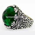 2014 bem antiga projeto padrão Mens anéis de esmeralda