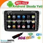 Android 4.2OS Car radioSKODA Yeti 2004-2009 Car DVD radio Player multimedia