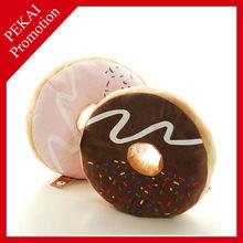 Plush doughnut design cheap chair printed cushion