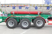 Road milk tanker trailer with 3 axles